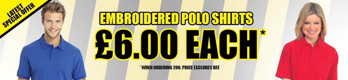 Embroidered Polo Shirts Special Offers.